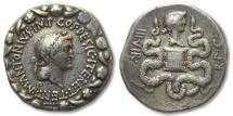 Ancient Coins - AR Cistophoric Tetradrachm Marc Antony & Octavia, Ionia, Ephesus 39 B.C.