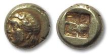 Ancient Coins - EL Hekte, Ionia, Phokaia 478-387 B.C. --head of IO left--