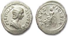 Ancient Coins - AR denarius Plautilla, Rome 202-203 A.D.