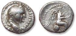 Ancient Coins - AR hemidrachm Vespasian / Vespasianus CAPPADOCIA. Caesaraea-Eusebia 69-79 A.D. - Nike seated right on globe -
