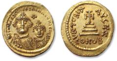 AV gold solidus Heraclius and Heraclius Constantine. Constantinople 610-641 A.D. - quality coin, a beauty -