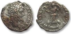 Ancient Coins - AR denarius Septimus Severus, Laodicea mint 198 A.D. - VICT AVGG COS II P P -