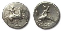 Ancient Coins - AR didrachm Calabria, Tarentum 290-281 B.C.