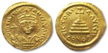 Ancient Coins - AV gold solidus Tiberius II, Constantinople 578-582 A.D. -- beauty --