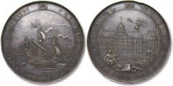 World Coins - Netherlands, huge 69mm AR commemorative medal 1655: on the opening of the new City Hall of Amsterdam