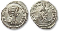 Ancient Coins - AR denarius Julia Domna, Rome 196-202 A.D. -- SAECVLI FELICITAS --