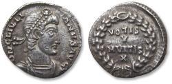Ancient Coins - AR Siliqua, Julian II/ Julianus II. Treveri (Trier) mint 360-363 A.D. - TR in exergue, officially recorded metal detector find -