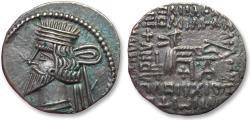 Ancient Coins - Parthian Kingdom, Vologases III, Ekbatana 105-147 A.D. -- beauty --