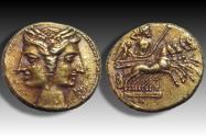"Ancient Coins - EL 3/8 Shekel - ""Hannibal in Bruttium"" - BRUTTIUM under Carthaginian occupation, circa 216-211 B.C."