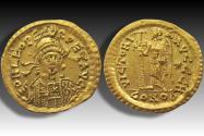 AV gold solidus Leo I, Constantinople mint 462-468 A.D. - 8th officina (H) --