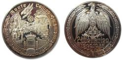 World Coins - 50mm Silver medal WW2: The battle of Monte Casino, Italy january - may 1944