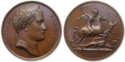 World Coins - Napoleonic Wars: 40mm Bronze medal on the Battle of Borodino, near Moscow, 7 september 1812