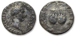 Ancient Coins - AR drachm Trajan / Trajanus, Lycia 98-99 A.D. - two lyres, small owl above -