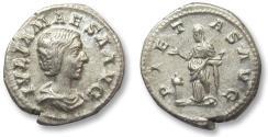 Ancient Coins - AR denarius Julia Maesa, Rome 218-220 A.D. -- PIETAS AVG --