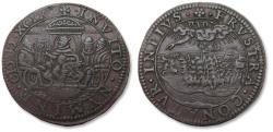 World Coins - Spanish Netherlands AE jeton Dordrecht mint 1599: Campaign conducted on the Rhine by Cardinal André of Austria