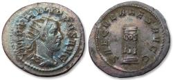 Ancient Coins - AR antoninianus, Philip I 'the Arab' - large 25mm flan - Rome mint 248 A.D. - celebrating 1000 years Rome -