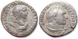 Ancient Coins - Large 24 mm AR tetradrachm Trajan / Trajanus. PHOENICIA, Tyre, TR P 15 Cos. V (= 110/111 A.D.)