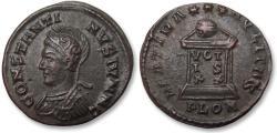 Ancient Coins - AE follis Constantine II as Caesar, London / Londinium mint 323-324 A.D. - PLON, beauty -