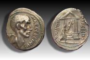 Ancient Coins - AR denarius P. Cornelius Lentulus Marcellinus, Rome 50 B.C. -beautiful example of this scarcer coin-