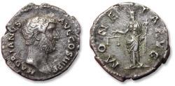 Ancient Coins - AR denarius, Hadrian / Hadrianus. Rome mint 134-138 A.D. - MONETA AVG -