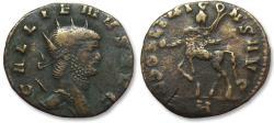 Ancient Coins - AE 20mm antoninianus Gallienus, Rome 267-268 A.D. - Centaur walking left -