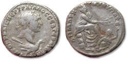 Ancient Coins - AR 25mm Tetradrachm, Trajan / Trajanus - Phoenicia, Tyre mint circa 110-111 A.D.