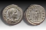 Ancient Coins - AR denarius Maximinus I Thrax, Rome 236 A.D. - P M TR P II COS P P, in near mint state -