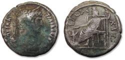 Ancient Coins - BI billon tetradrachm emperor Hadrian / Hadrianus, Egypt, Alexandria mint dated RY 12 = 127-128 A.D.