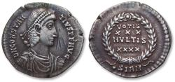 Ancient Coins - AR Siliqua, Constantius II. Sirmium mint circa 351-355 A.D. - •SIRM in exergue (1st officina) -