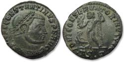 Ancient Coins - AE 23mm silvered follis Constantine I the Great, Thessalonica mint 312-313 A.D.