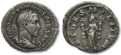 Ancient Coins - AR denarius Maximinus I Thrax, Rome 236 A.D. -- FIDES MILITVM --