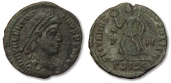 Ancient Coins - MO: AE17 Valentinianus, Siscia 364-375 A.D. -- Victory advancing left --
