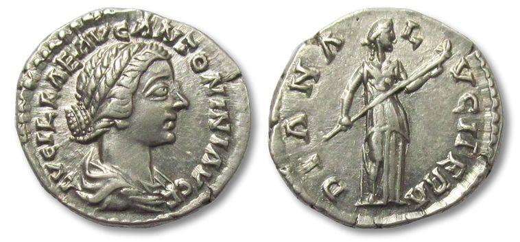 Ancient Coins - AR denarius Lucilla, Rome 161-169 A.D. --DIANA LVCIFERA--
