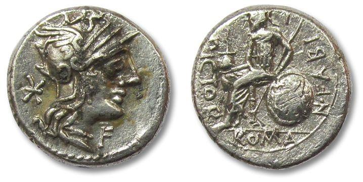 Ancient Coins - HS: AR denarius N. Fabius Pictor, Rome 126 B.C.