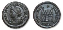 Ancient Coins - AE Campgate Follis of Constantius II, struck in Nicomedia 337-361 A.D.