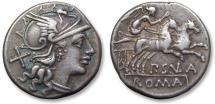 Ancient Coins - AR denarius P. Cornelius Sulla, 151 B.C.