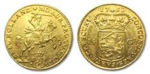 World Coins - AV/AU 14 guilder gold rider (gouden rijder), Holland 1751