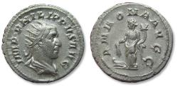Ancient Coins - AR antoninianus Philip I, Rome mint AD 244-247 - in near mint state - ANNONA AVGG