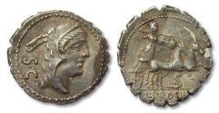 Ancient Coins - AR denarius L. Procilius, Rome 80 B.C.