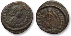 Ancient Coins - AE4 Valentinian II / Valentinianus II, Rome 384-392 A.D. --Victory advancing left--