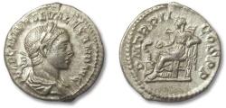 Ancient Coins - HS: AR denarius Severus Alexander, Rome 223 A.D.