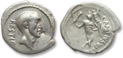 Ancient Coins - AR Denarius, C. Antius C.f. Restio. Rome 47 B.C. - scarcer coin -
