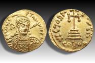 AV gold solidus Constantine IV Pogonatus, Constantinople mint 668-685 A.D. - officina letter Z -