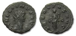 Ancient Coins - AE antoninianus Gallienus, Rome 260-268 A.D. -- VBERITAS AVG -- almost as minted