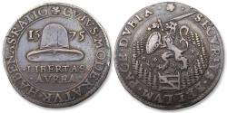 World Coins - Spanish Netherlands AR jeton Dordrecht mint 1575: peace talks at Breda broken off - heavy 8,84 gr example -
