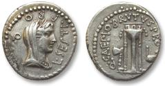 Ancient Coins - AR denarius Q. Servilius Caepio Brutus, mobile mint Asia Minor 43-42 B.C. L Sestius, proquaestor