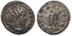 Ancient Coins - Billon antoninianus Postumus, Trier 260-269 A.D. -- HERC PACIFERO --