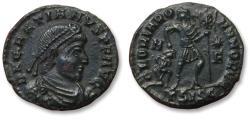 Ancient Coins - Æ Follis Gratianus / Gratian, Siscia mint AD 367-375 - mintmark ΓSISC (3rd officina)