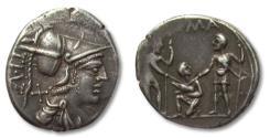 Ancient Coins - AR Denarius Ti. Veturius. Rome mint 137 B.C.