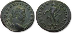 Ancient Coins - AE 27mm follis Constantius I Chlorus as Caesar, Trier mint 296-297 A.D. -- A - Γ across fields --